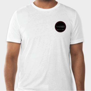 Vaxxed white t-shirt